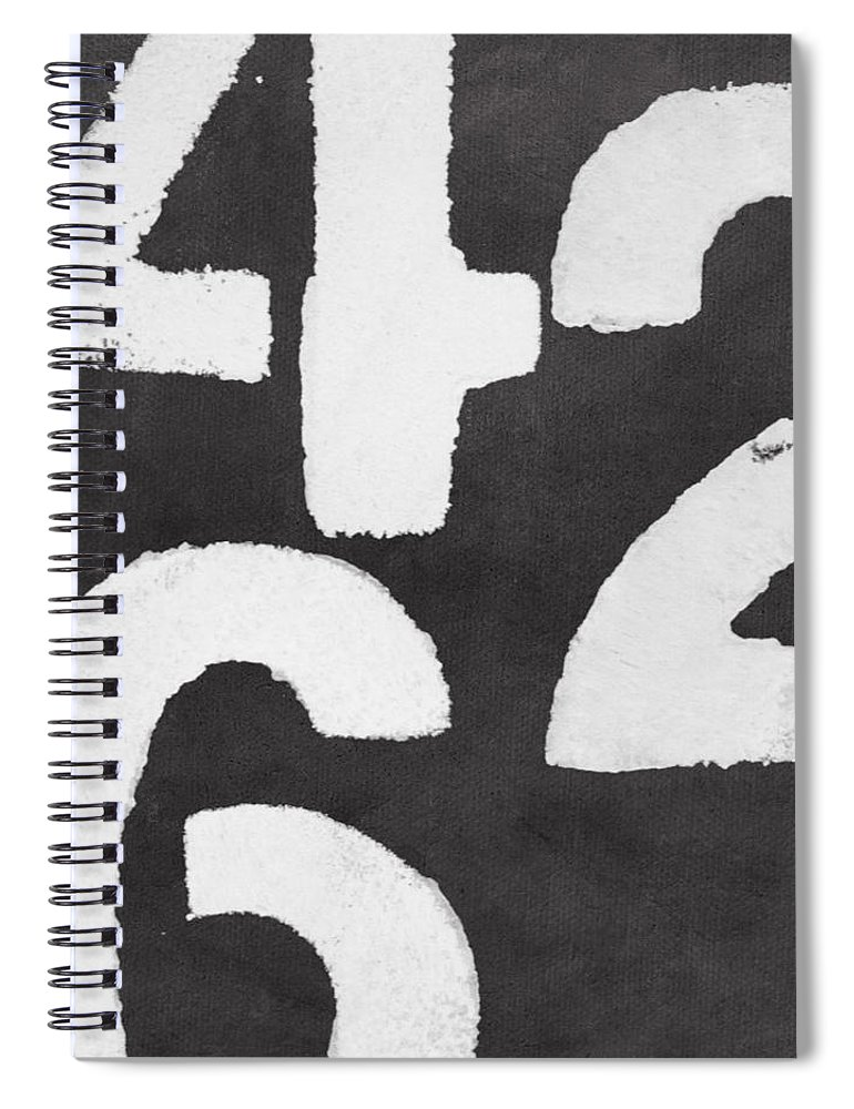Even Numbers Spiral Notebook featuring the painting Even Numbers by Linda Woods