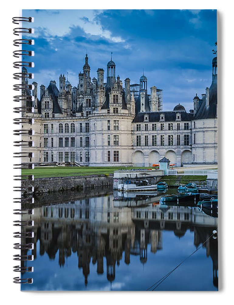 Architectural Spiral Notebook featuring the photograph Evening At Chateau Chambord by Brian Jannsen