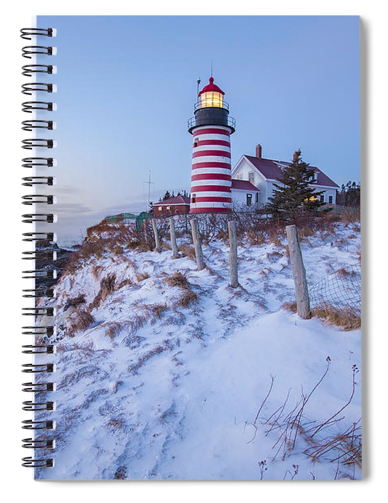 East Spiral Notebook featuring the photograph Facing East by Evelina Kremsdorf
