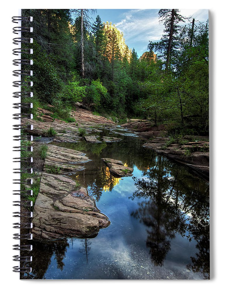 Tranquility Spiral Notebook featuring the photograph Fall Is Right Around The Corner In by Image By Sean Foster