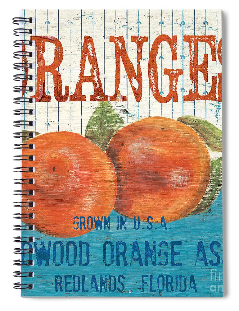 Food Spiral Notebook featuring the painting Farm Fresh Fruit 2 by Debbie DeWitt