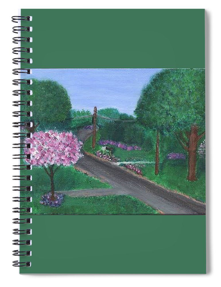 Plein Aire Spiral Notebook featuring the painting Fellowship by Sheila Mashaw