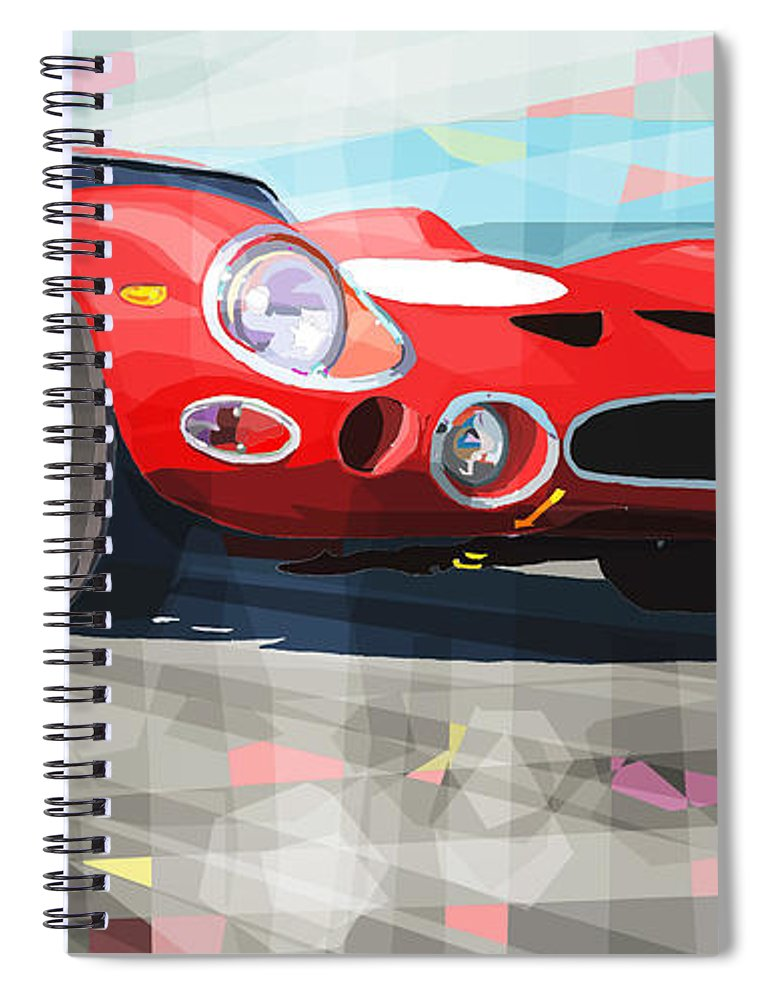 Automotive Spiral Notebook featuring the digital art Ferrari 330 Gto 1962 by Yuriy Shevchuk
