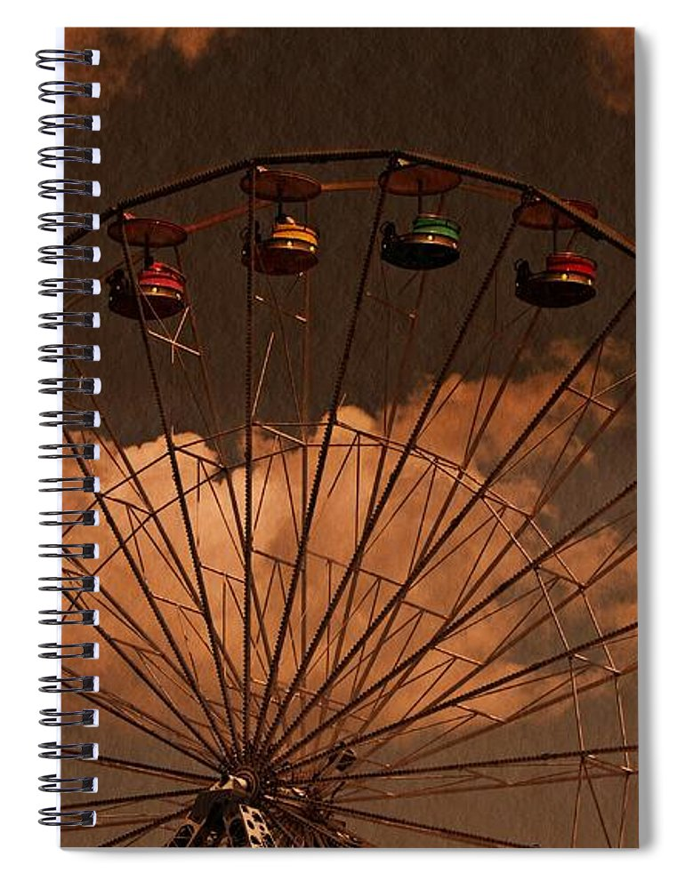 Ferris Wheel Spiral Notebook featuring the photograph Ferris Wheel At Twilight by David Dehner