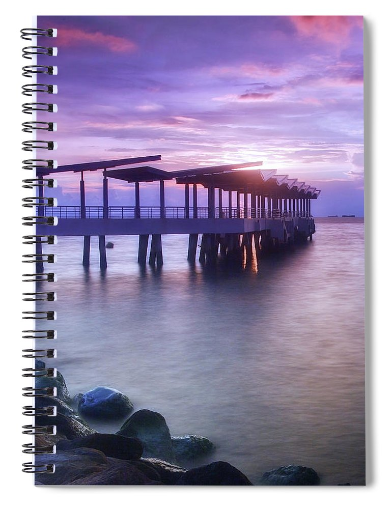 Scenics Spiral Notebook featuring the photograph Ferry Station by Melv Pulayan