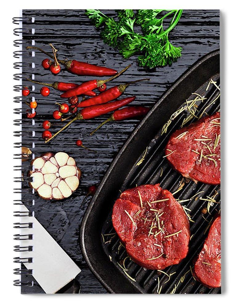 Tenderloin Spiral Notebook featuring the photograph Fillet Mignon by Fcafotodigital