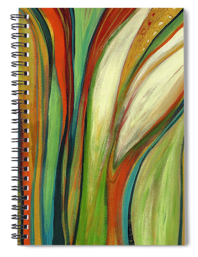 Abstract Spiral Notebook featuring the painting Finding Paradise by Jennifer Lommers