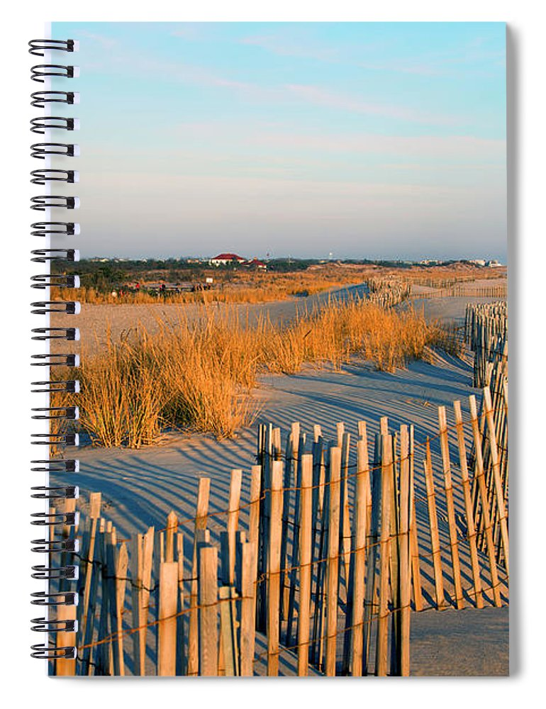 Shadow Spiral Notebook featuring the photograph Fire Island Lighthouse, Long Island, Ny by Rudi Von Briel