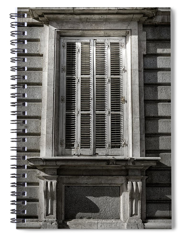 Antique Spiral Notebook featuring the photograph Fixer Upper by Joan Carroll