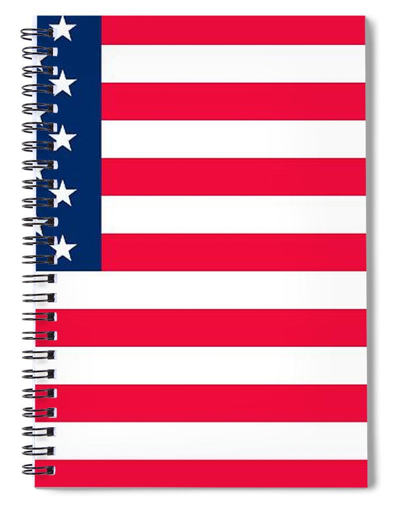 America Spiral Notebook featuring the painting Flag of the United States of America by Anonymous