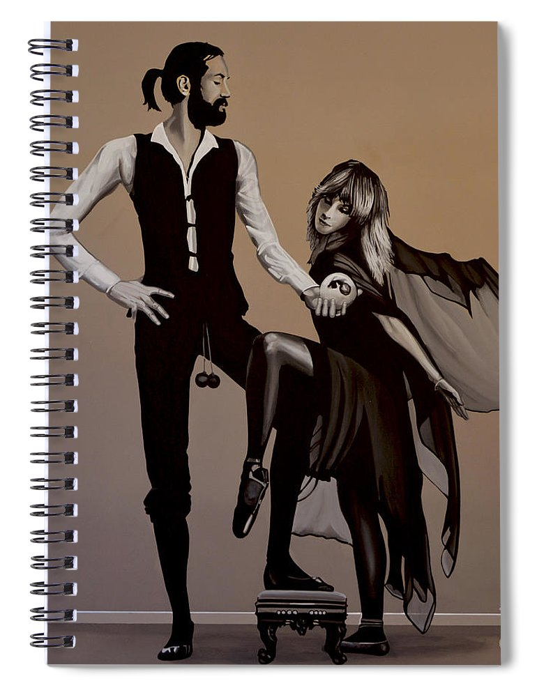 Fleetwood Mac Spiral Notebook featuring the painting Fleetwood Mac Rumours by Paul Meijering