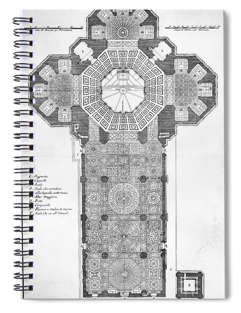 18th Century Spiral Notebook featuring the photograph Florence: Cathedral by Granger