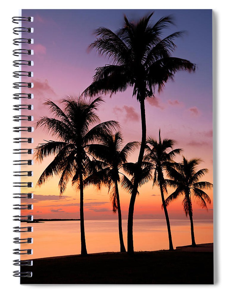 Sunset Spiral Notebook featuring the photograph Florida Breeze by Chad Dutson
