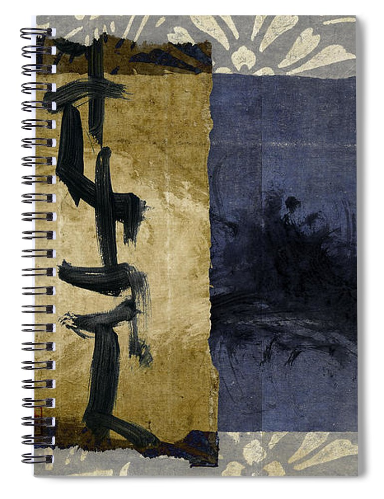 Japanese Spiral Notebook featuring the photograph Folded Indigo by Carol Leigh