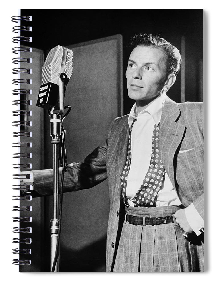 Frank Sinatra Spiral Notebook featuring the photograph Frank Sinatra by Mountain Dreams