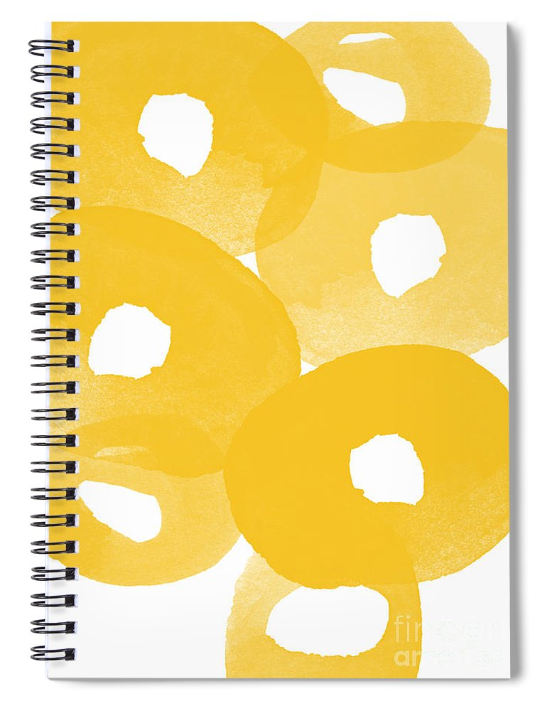 Abstract Flowers Spiral Notebook featuring the painting Freesia Splash by Linda Woods