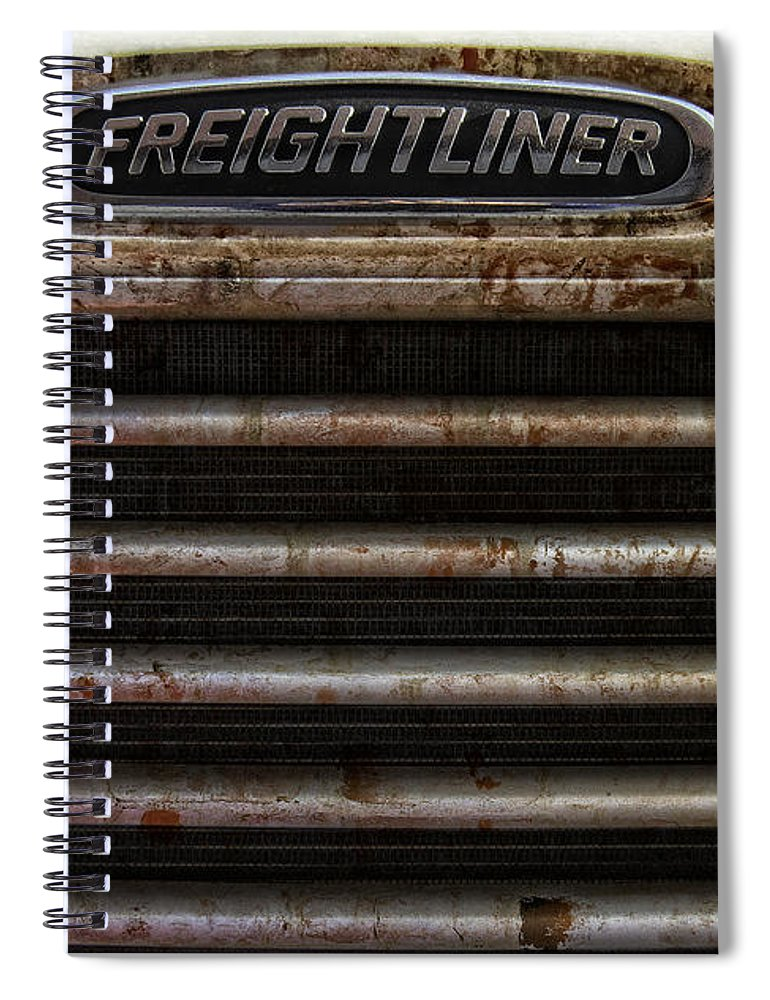 Freightliner Spiral Notebook featuring the photograph Freightliner Highway King by Daniel Hagerman