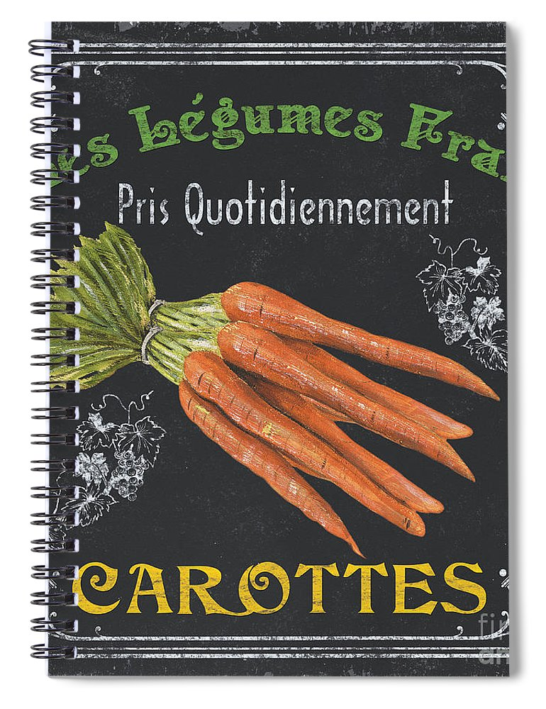 Produce Spiral Notebook featuring the painting French Vegetables 4 by Debbie DeWitt