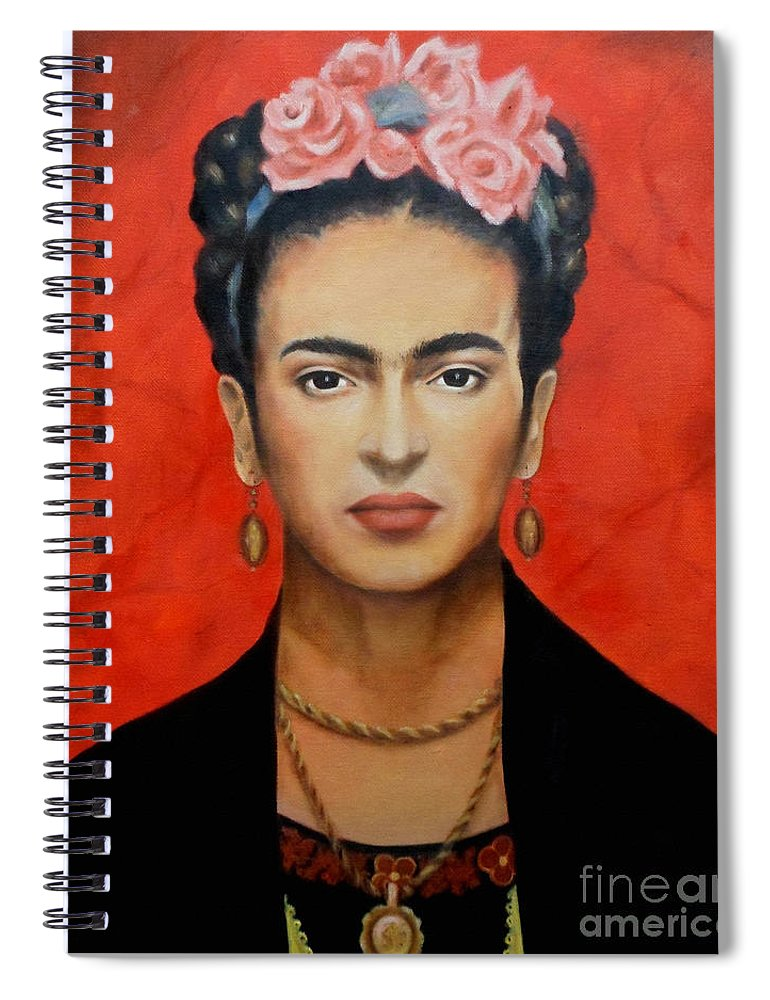 Frida Spiral Notebook featuring the painting Frida Kahlo by Yelena Day