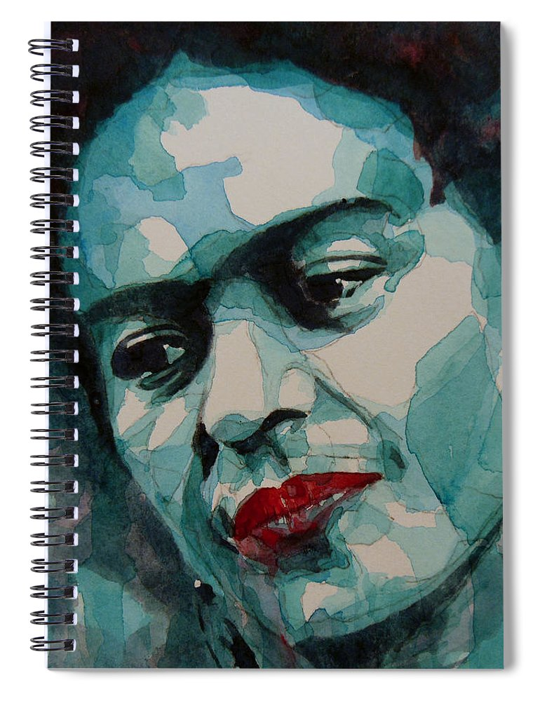 Frida Spiral Notebook featuring the painting Frida Kahlo by Paul Lovering