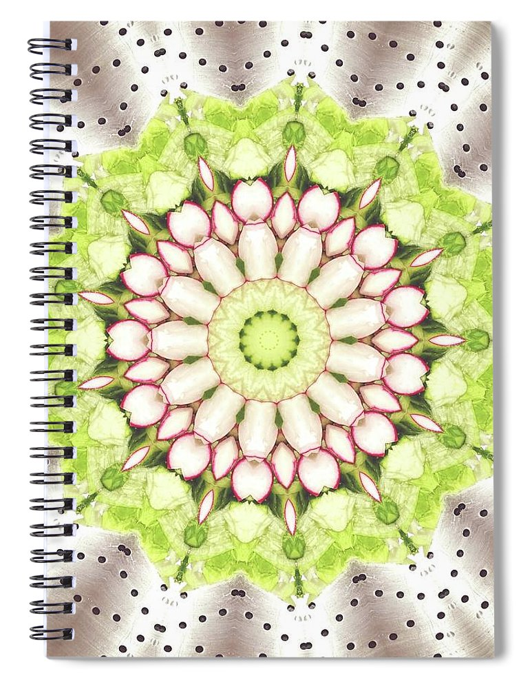Full Frame Spiral Notebook featuring the photograph Full Frame Shot Of Radish And Cucumber by Mark Jones / Eyeem