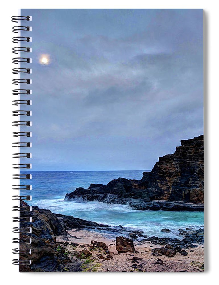 Tranquility Spiral Notebook featuring the photograph Full Moon In The Clouds by Julie Thurston