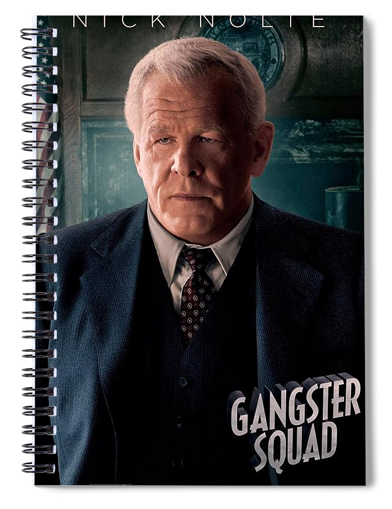 Gangster Squad Spiral Notebook featuring the photograph Gangster Squad Nolte by Movie Poster Prints
