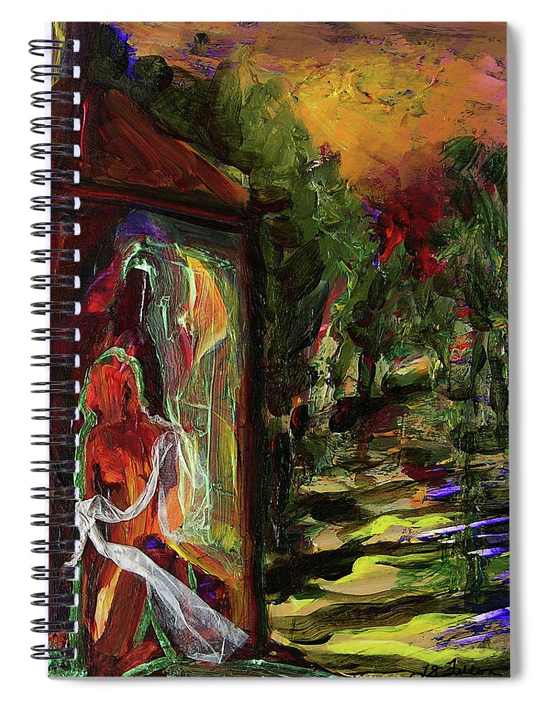 Art Spiral Notebook featuring the painting Gauguin's Polynesia by Julianne Felton