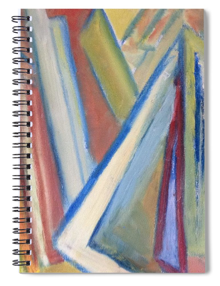 Abstract Spiral Notebook featuring the painting Geometric Tension Series V1 by Patricia Cleasby