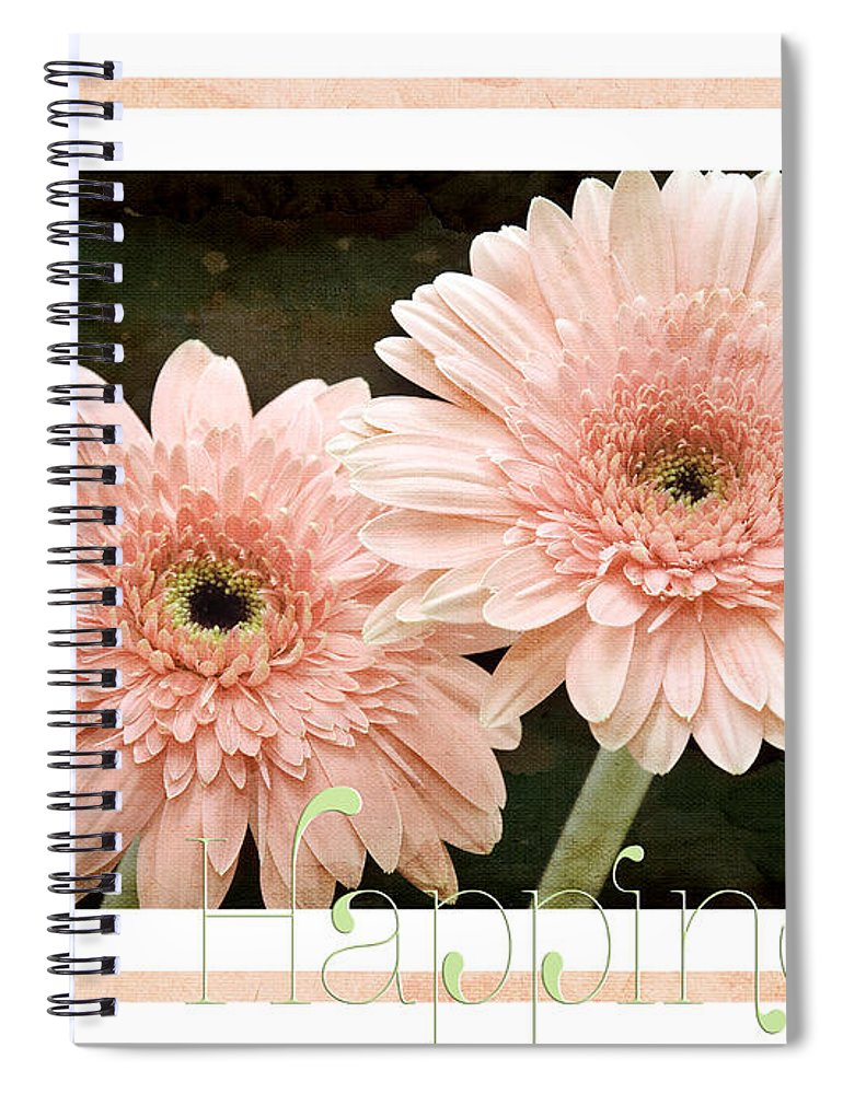 Gerber Spiral Notebook featuring the photograph Gerber Daisy Happiness 5 by Andee Design