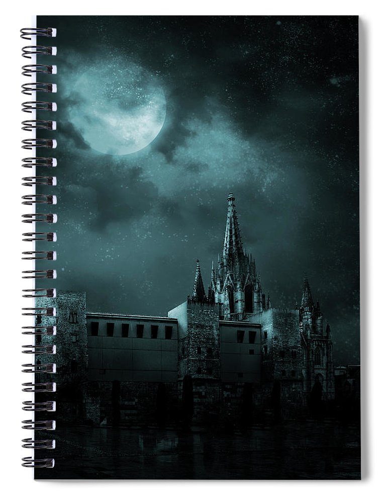 Gothic Style Spiral Notebook featuring the photograph Ghosts In The Empty Town by Vladgans
