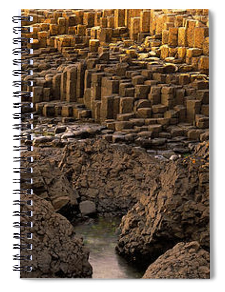 Photography Spiral Notebook featuring the photograph Giants Causeway, Antrim Coast, Northern by Panoramic Images