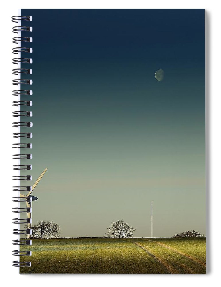Tranquility Spiral Notebook featuring the photograph Giants...harvest The Wind by A Goncalves