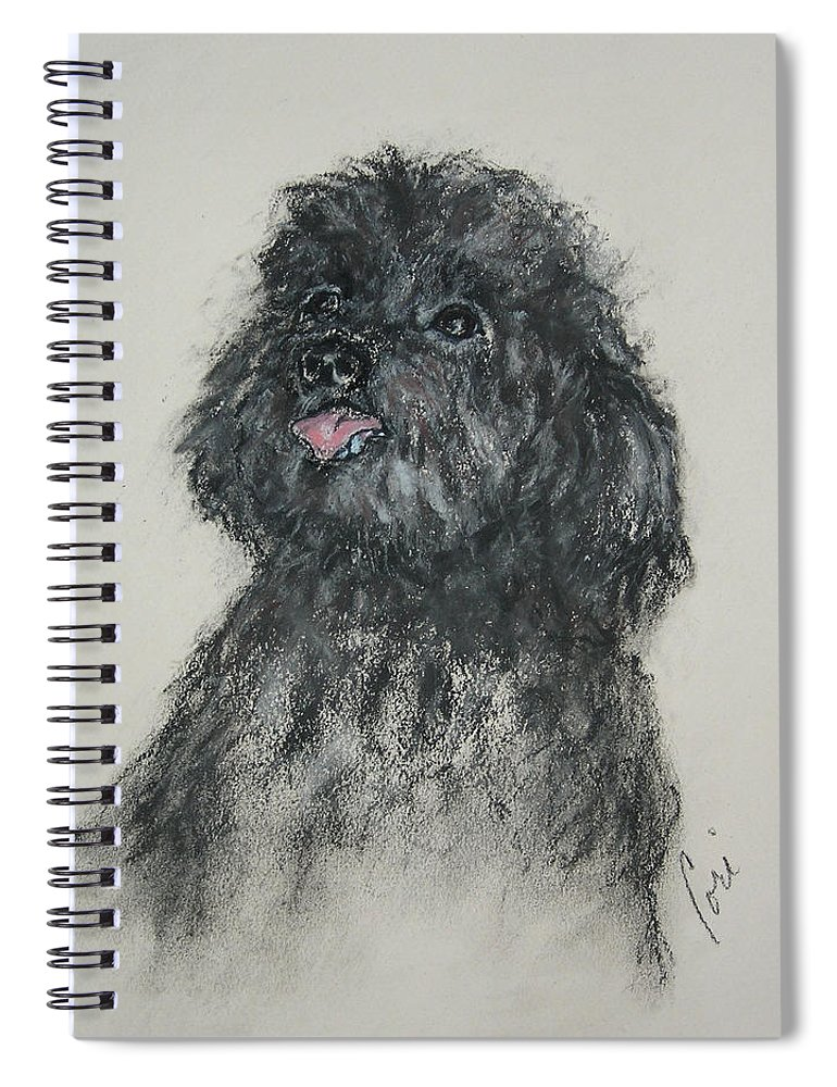 Poodle Spiral Notebook featuring the drawing Gigi by Cori Solomon