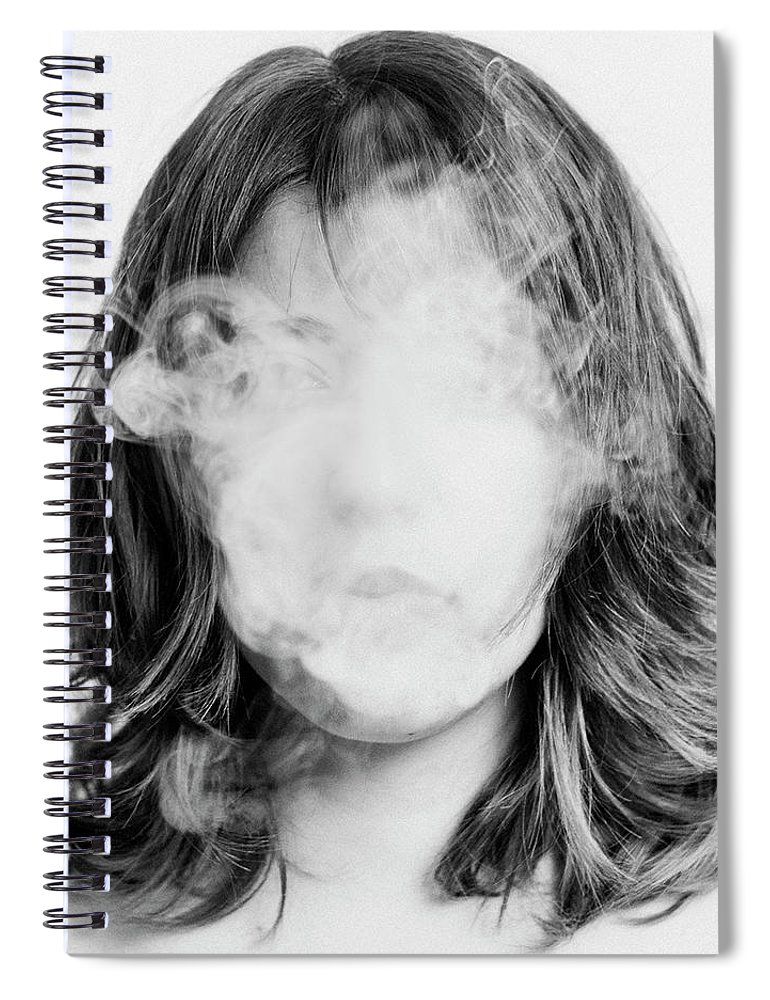 People Spiral Notebook featuring the photograph Girl Smoking by Lita Bosch