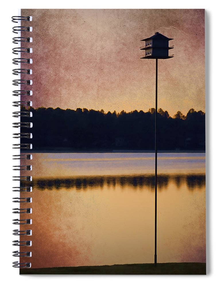 Birdhouse Spiral Notebook featuring the photograph Gisela's Birdhouse by Carol Leigh