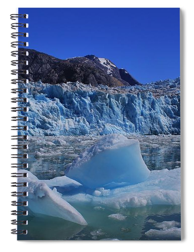 Ice Spiral Notebook featuring the photograph Glacier And Ice by Mo Barton