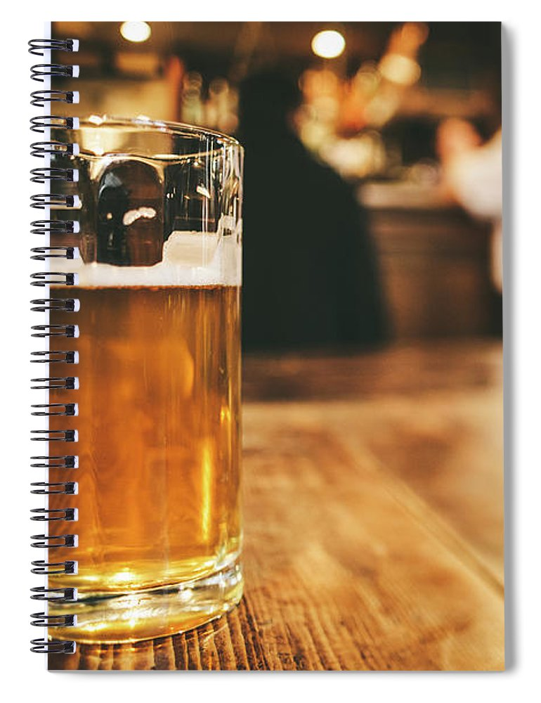 Alcohol Spiral Notebook featuring the photograph Glass Of Bier, Brewery In Germany by Moreiso