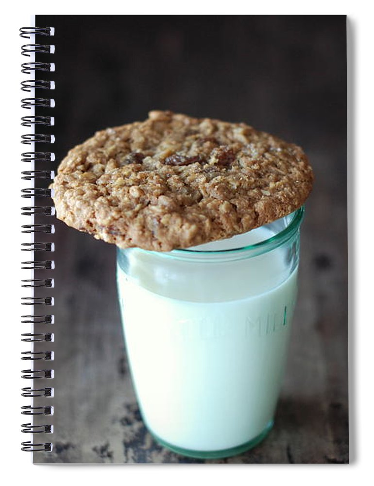 Milk Spiral Notebook featuring the photograph Glass Of Milk by Shawna Lemay