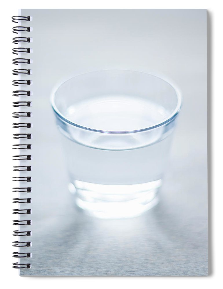 White Background Spiral Notebook featuring the photograph Glass Of Water by Steven Errico