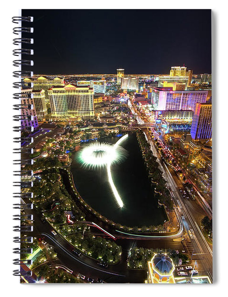 Built Structure Spiral Notebook featuring the photograph Glowing Night by Eric Lo