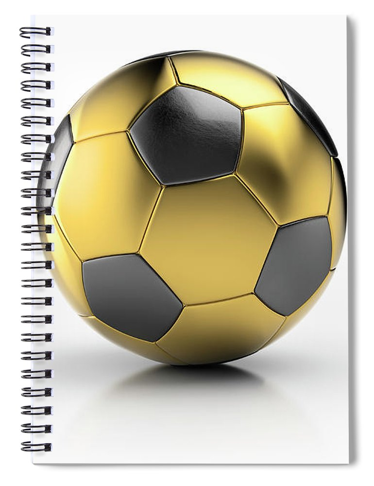White Background Spiral Notebook featuring the photograph Gold Football by Atomic Imagery