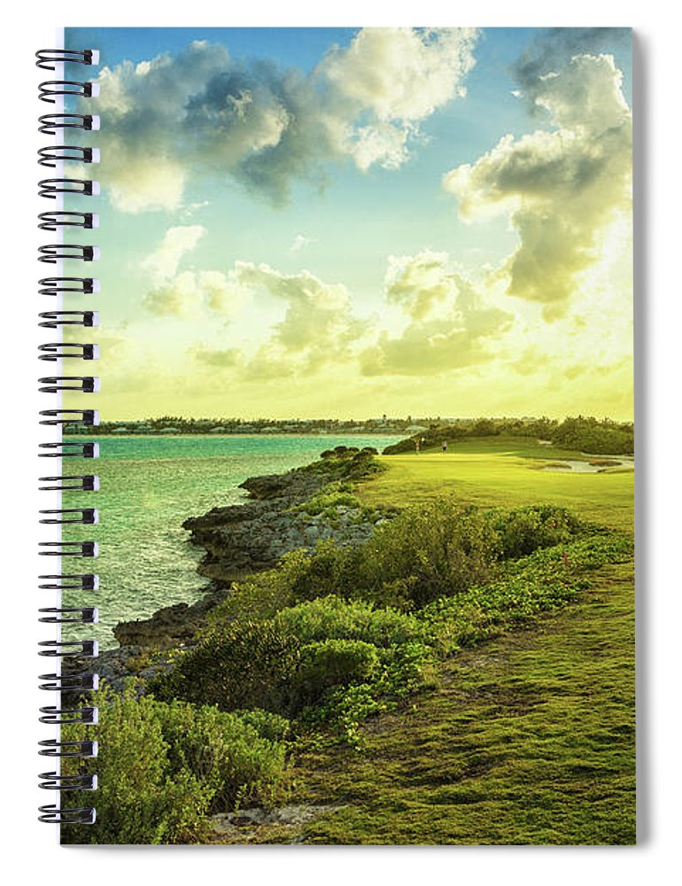Scenics Spiral Notebook featuring the photograph Golf Course by Chang
