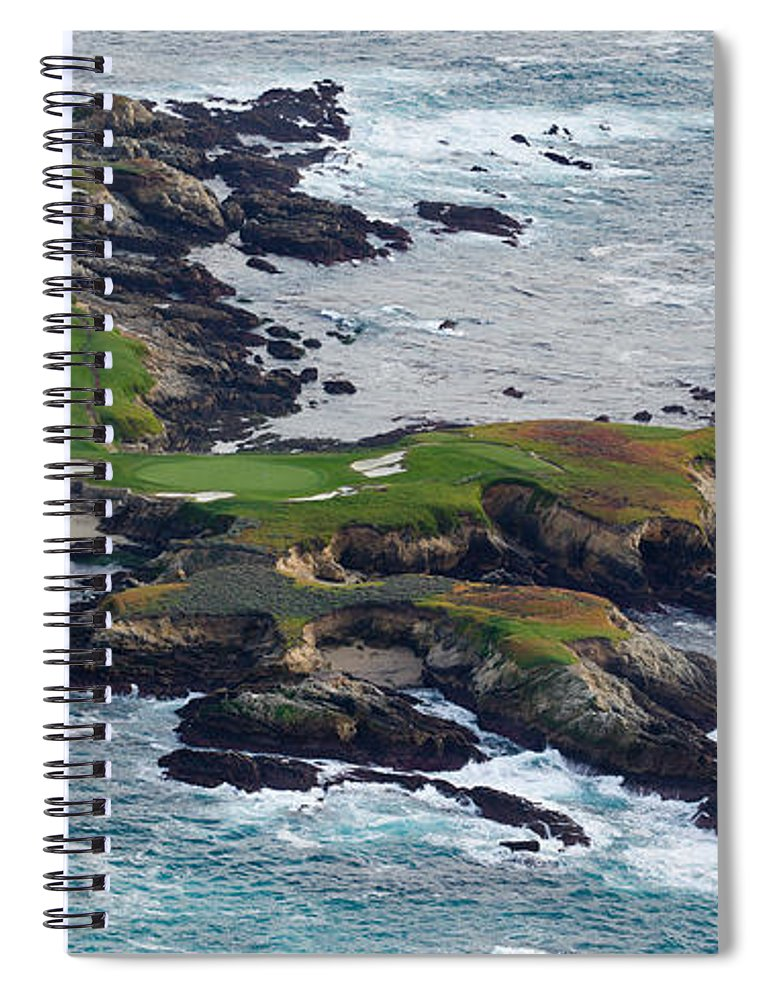 Photography Spiral Notebook featuring the photograph Golf Course On An Island, Pebble Beach by Panoramic Images