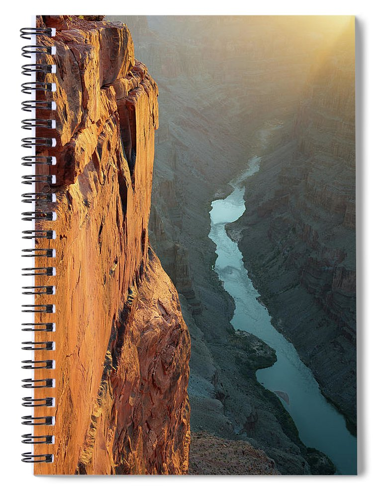 Scenics Spiral Notebook featuring the photograph Grand Canyon Toroweap Point Morning by Kjschoen