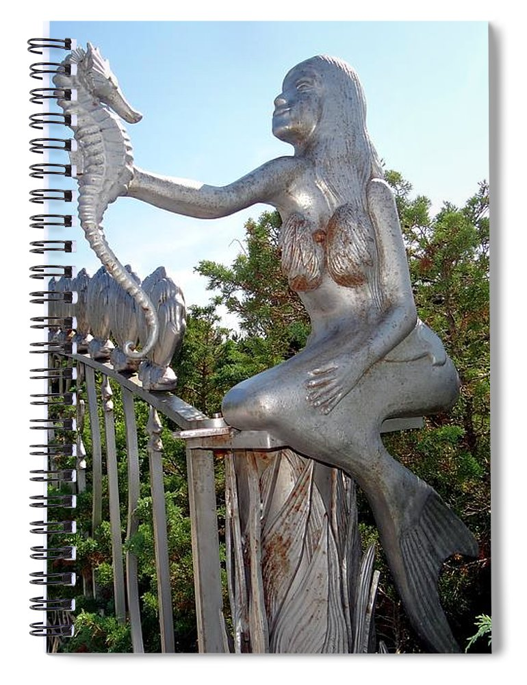 Mermaid Spiral Notebook featuring the photograph Grand Entranceway by Ed Weidman