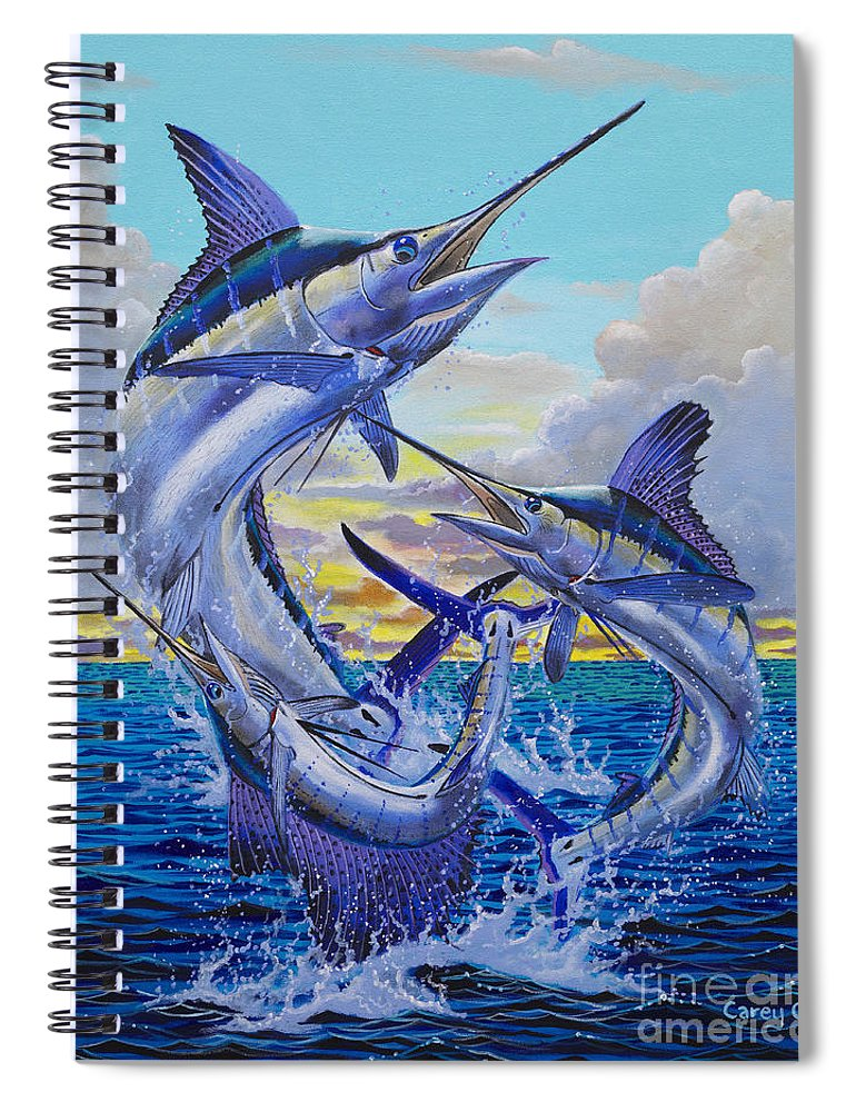 Grand Slam Spiral Notebook featuring the painting Grand Slam Off0016 by Carey Chen