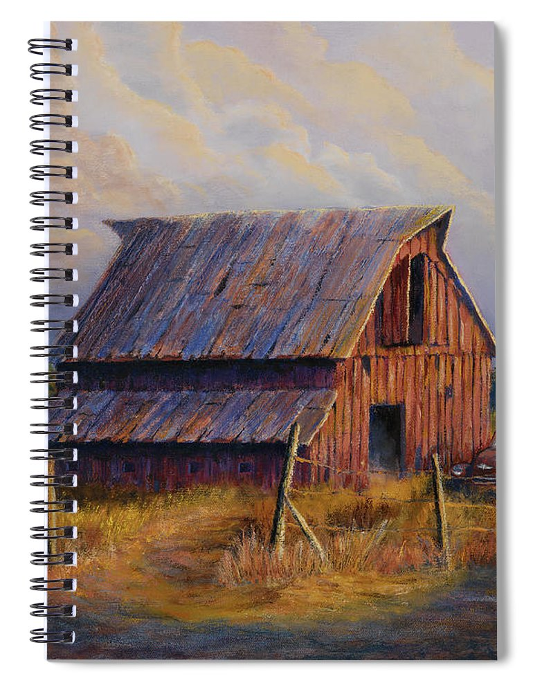 Barn Spiral Notebook featuring the painting Grandpas Truck by Jerry McElroy