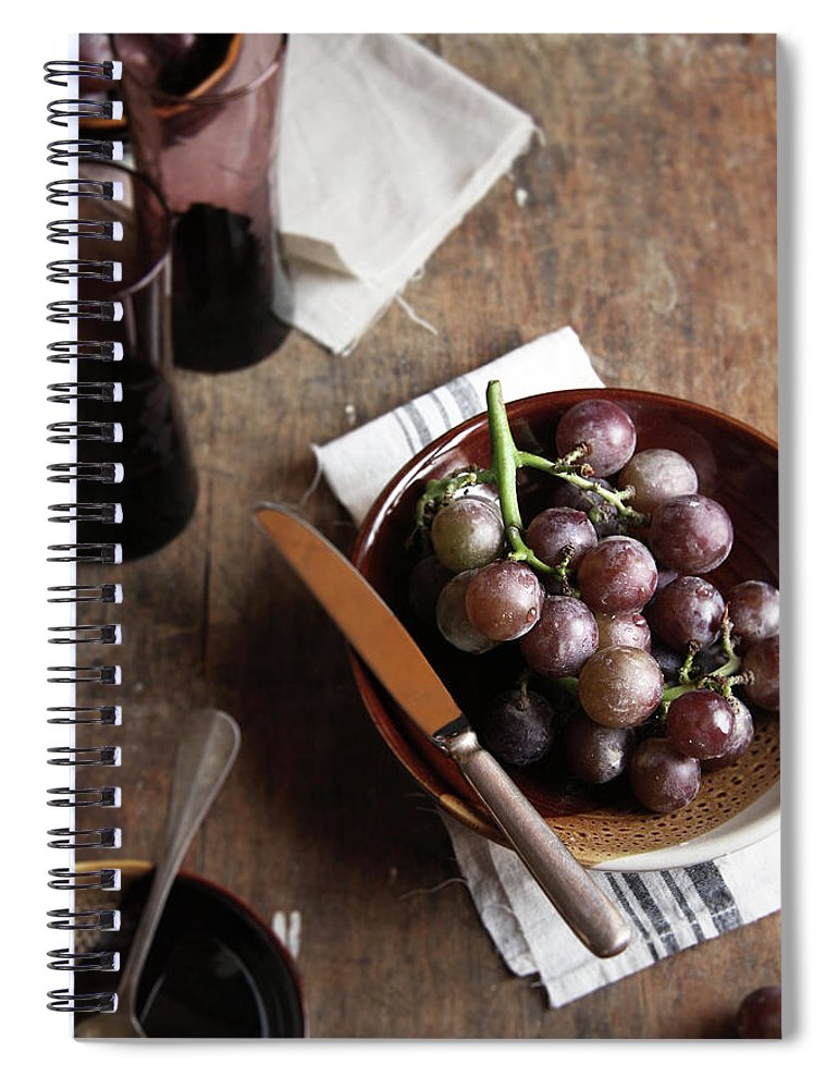 Spoon Spiral Notebook featuring the photograph Grape by 200