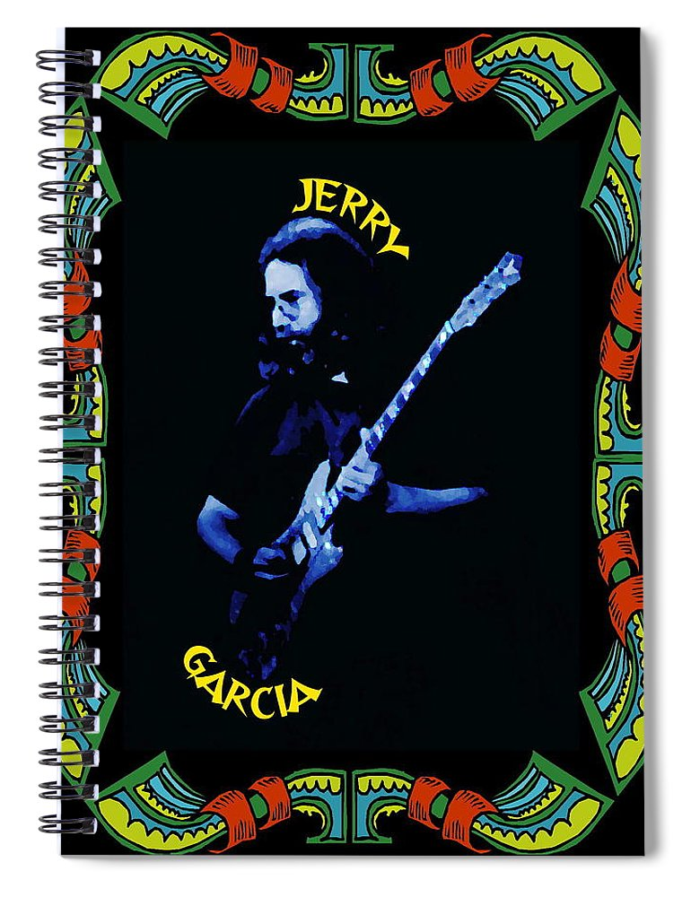 Grateful Dead Spiral Notebook featuring the photograph Grateful For Jerry by Ben Upham